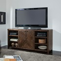 Liberty Furniture Shadow Lake Contemporary TV Stand with Adjustable Shelves