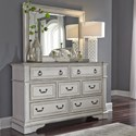 Liberty Furniture Abbey Park Dresser and Mirror - Item Number: 520-BR-DM