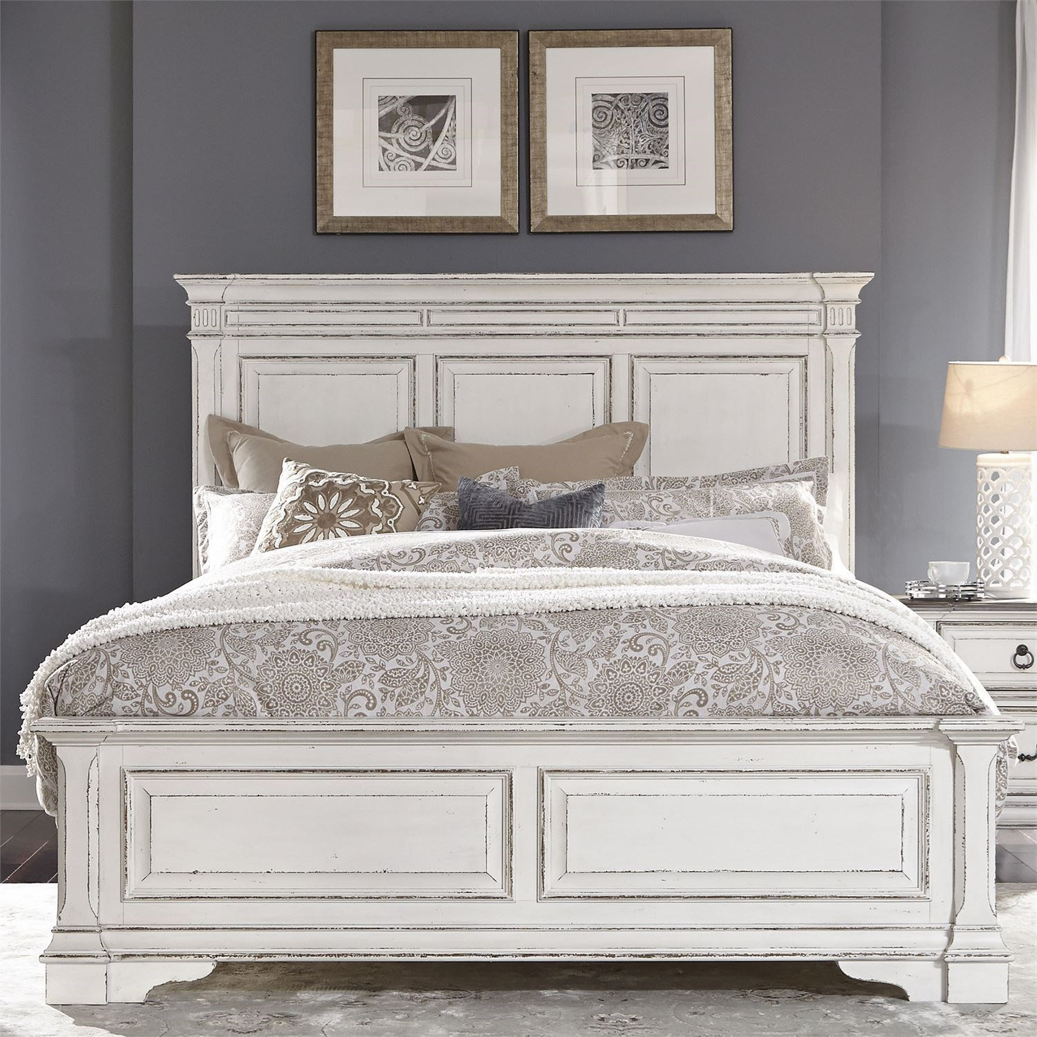 Abbey Park King Panel Bed by Liberty Furniture at Dream Home Interiors