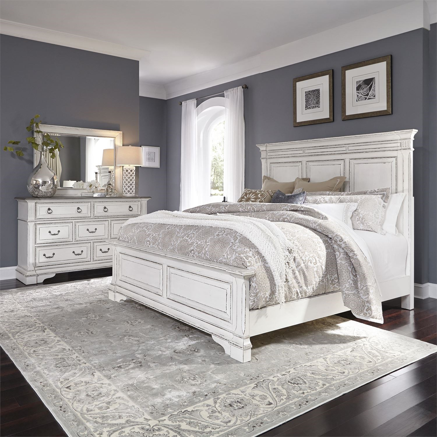 Abbey Park California King Bedroom Group by Freedom Furniture at Ruby Gordon Home