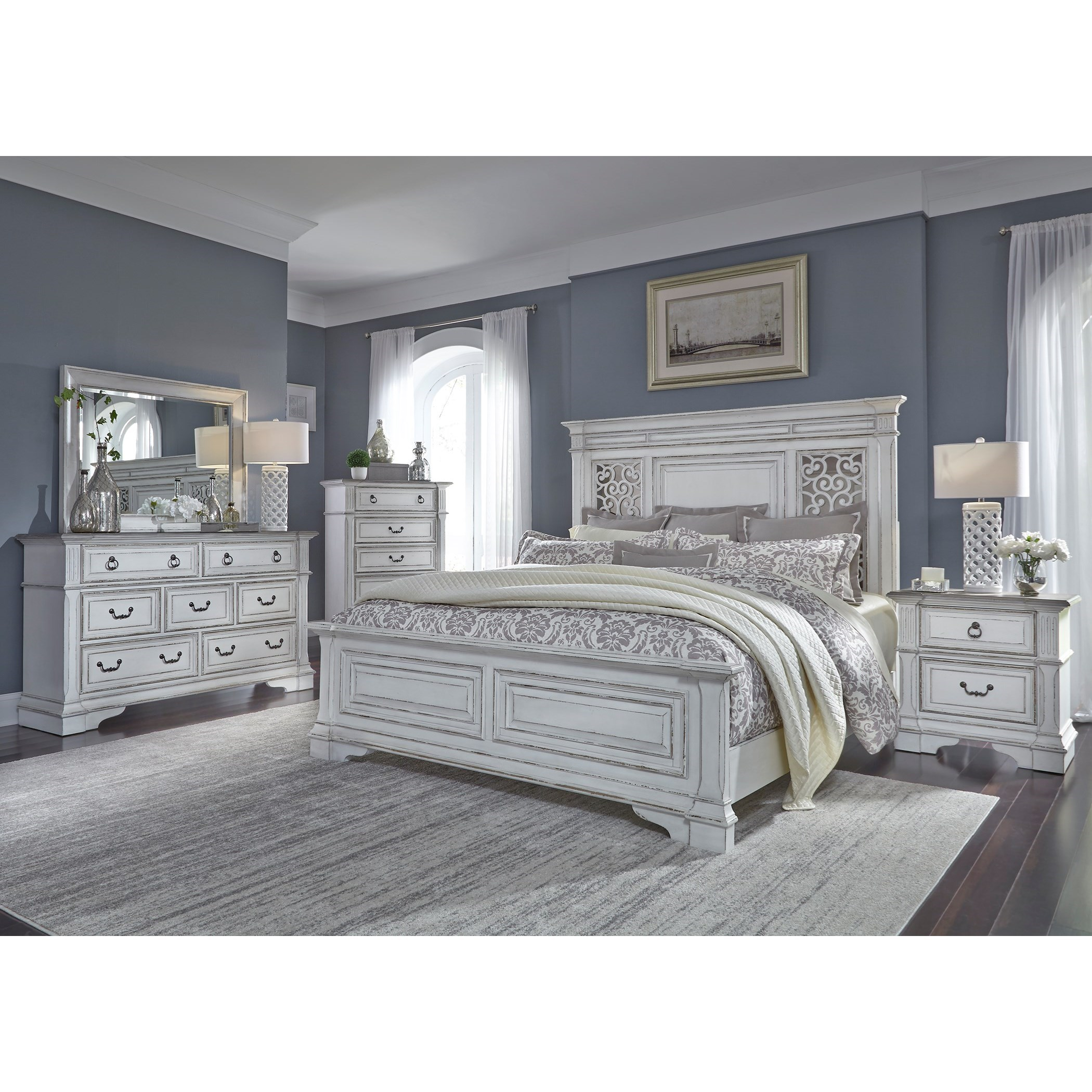 Liberty Furniture Abbey Park Queen Bedroom Group - Item Number: 520-BR-QPBDMCN
