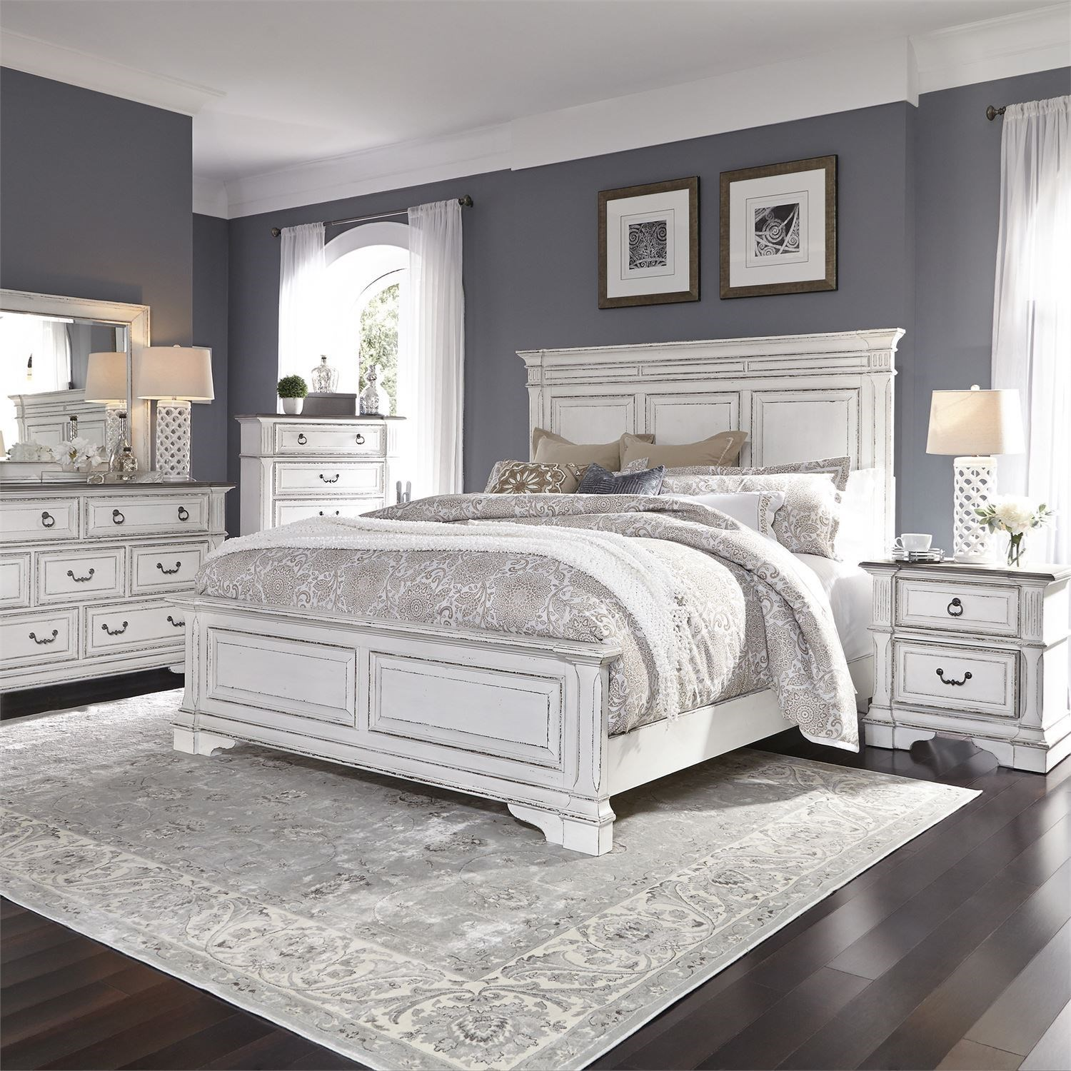 Abbey Park California King Bedroom Group by Liberty Furniture at Dream Home Interiors