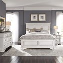 Liberty Furniture Abbey Park King Bedroom Group - Item Number: 520-BR-KPBDMN