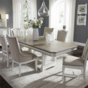 Liberty Furniture Abbey Park 7 Piece Trestle Table Set  - Item Number: 520-DR-7TRS