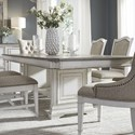Liberty Furniture Abbey Park Traditional Trestle Table