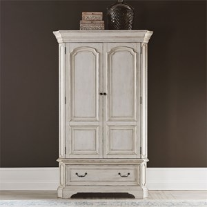 Relaxed Vintage Armoire with Distressed Finish