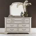 Liberty Furniture Abbey Road Dresser and Mirror - Item Number: 455W-BR-DM