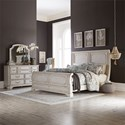 Freedom Furniture Abbey Road King Bedroom Group - Item Number: 455W-BR-KSLDM