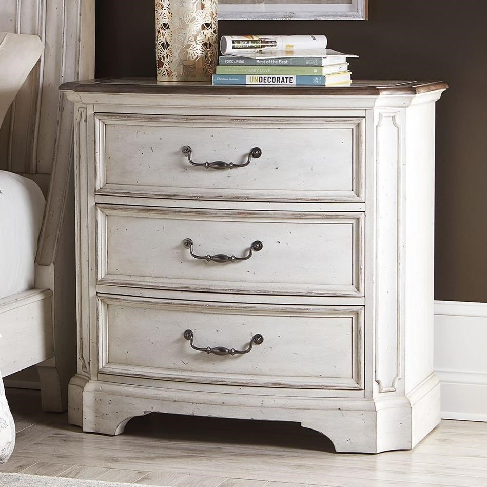 Abbey Road Bedside Chest by Liberty Furniture at Gill Brothers Furniture