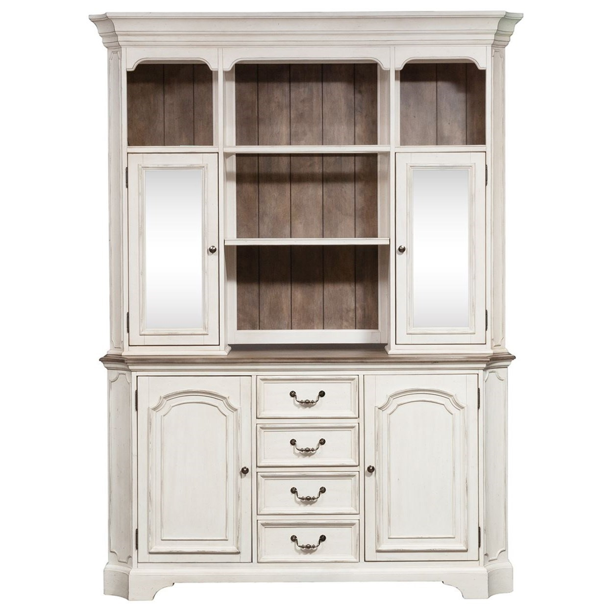 Abbey Road Hutch and Buffet by Liberty Furniture at Dream Home Interiors