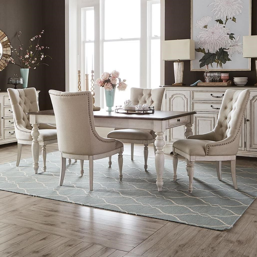 Abbey Road 5-Piece Rectangular Table Set by Liberty Furniture at Zak's Home