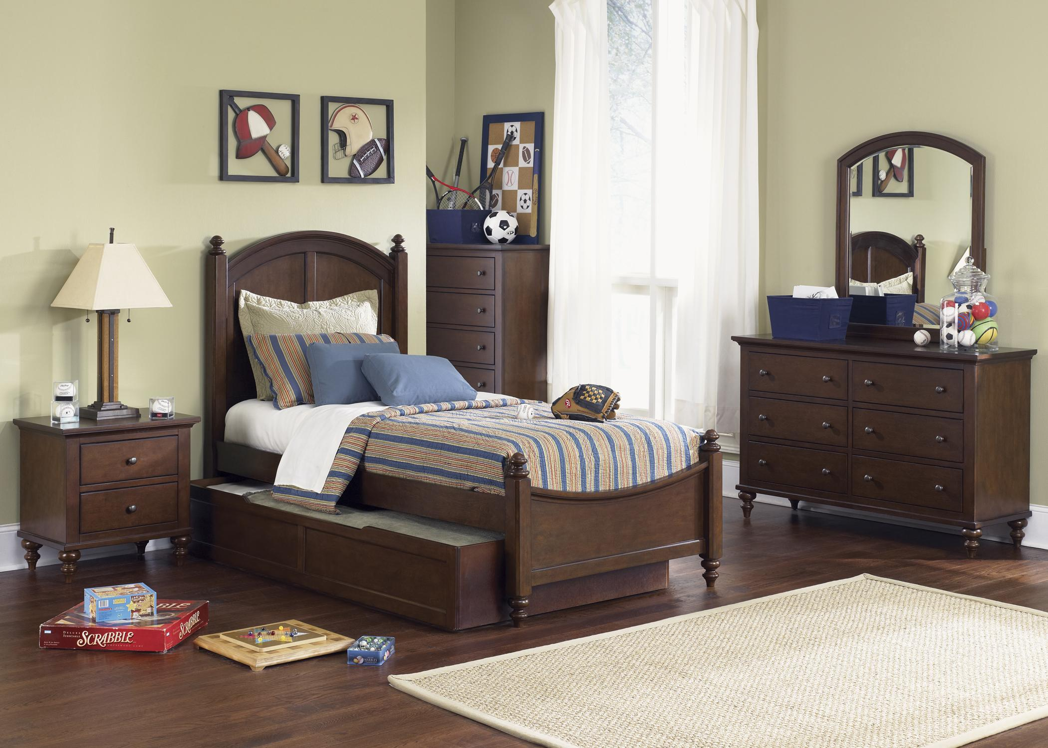 Abbott Ridge Youth Bedroom Full Panel Bed With Trundle By