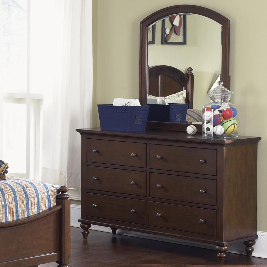 Liberty Furniture Abbott Ridge Youth Bedroom Dresser & Mirror - Item Number: 277-YBR-SET50