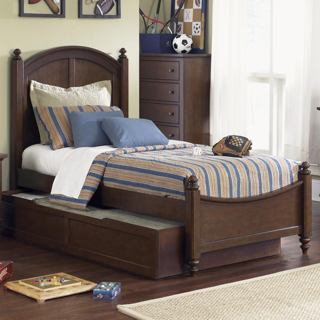 Liberty Furniture Abbott Ridge Youth Bedroom Twin Panel Bed - Item Number: 277-YBR-SET87