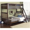 Liberty Furniture Abbott Ridge Youth Bedroom Twin Over Full Bunkbed - Item Number: 277-YBUNK-SET204