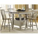 Liberty Furniture Al Fresco Counter Height Chair with Slat Back - Shown with Gathering Table