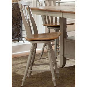 Liberty Furniture Al Fresco Slat Back Swivel Counter Chair