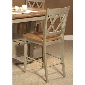 Liberty Furniture Al Fresco Double X-Back Counter Chair