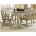 Liberty Furniture Al Fresco 5 Piece Dining Table Set - Item Number: 541-T4074+4xC1500S