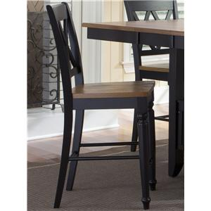 Liberty Furniture Al Fresco II Double X-Back Counter Chair