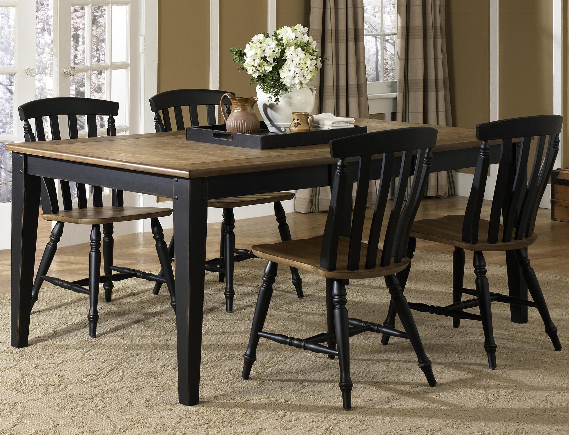 Liberty Furniture Al Fresco II 5 Piece Rectangular Table and Chairs Set - Item Number: 641-CD-SET19