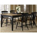 Liberty Furniture Al Fresco II 5 Piece Rectangular Table and Chairs Set - Item Number: 641-CD-SET19