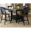 Liberty Furniture Al Fresco II 5 Piece Gathering Table and Chairs Set - Item Number: 641-GT5454+4xB150024