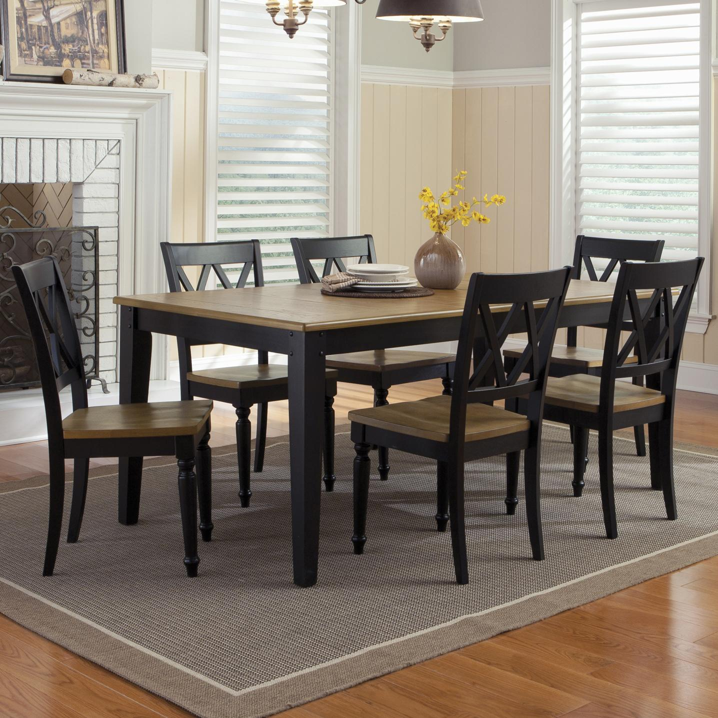 Liberty Furniture Al Fresco II 7 Piece Rectangular Table and Chairs Set - Item Number: 641-T4074+6xC3000S