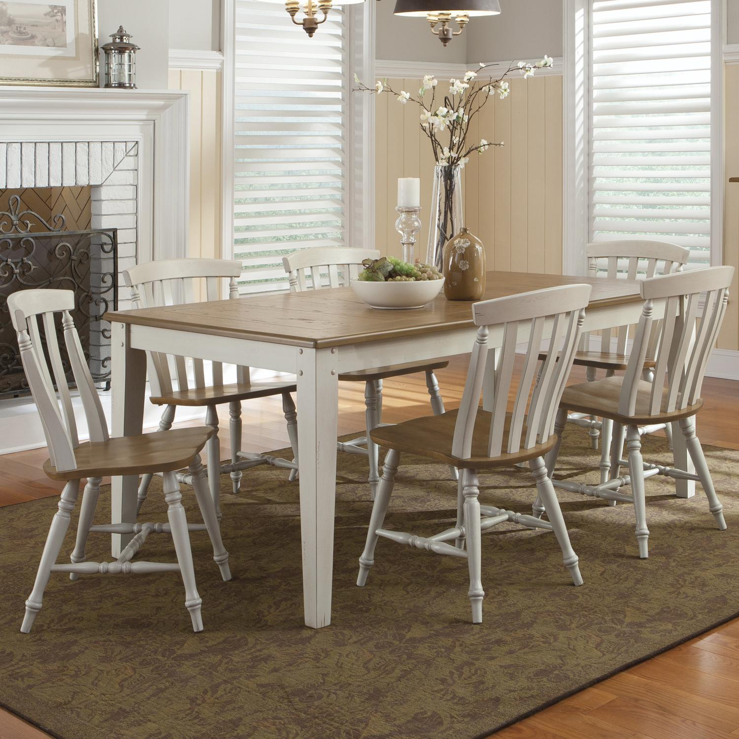 Liberty Furniture Al Fresco III 7 Piece Rectangular Table and Chairs Set - Item Number: 841-CD-SET32