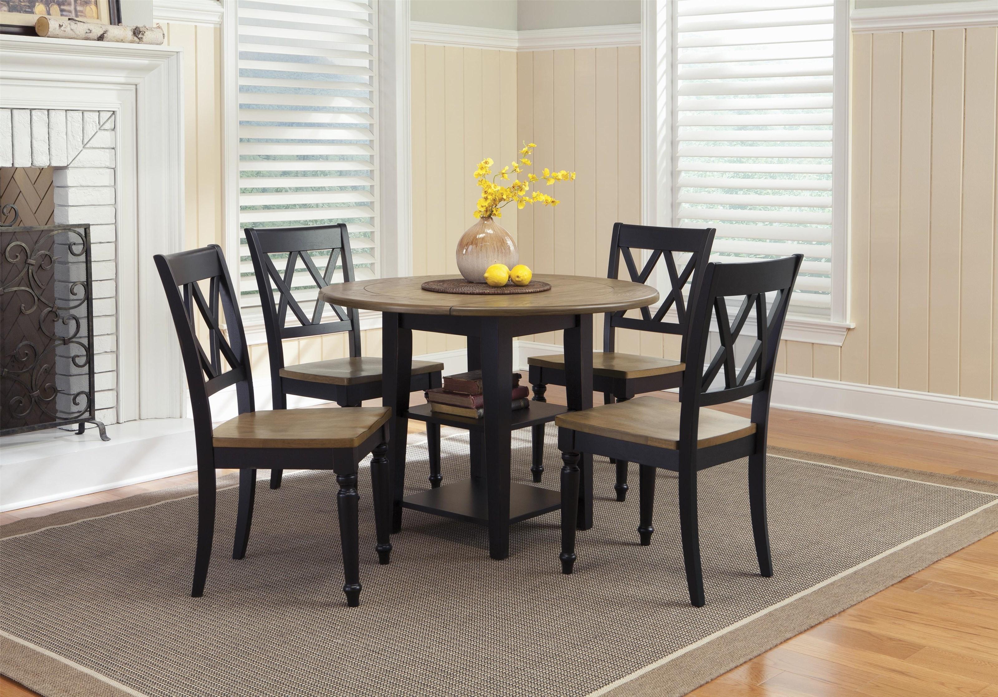 Liberty Furniture Ellie 5-Piece Dining Set - Item Number: D18641-5PC