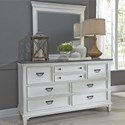 Liberty Furniture Allyson Park Dresser & Mirror  - Item Number: 417-BR-DM