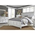 Liberty Furniture Allyson Park King Bedroom Group - Item Number: 417-BR-KPBDMC
