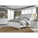 Liberty Furniture Allyson Park King Bedroom Group - Item Number: 417-BR-KPBDMCN