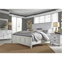 Liberty Furniture Allyson Park King Bedroom Group - Item Number: 417-BR-KPBDMN