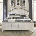 Liberty Furniture Allyson Park King Arched Panel Bed - Item Number: 417-BR-KAPB
