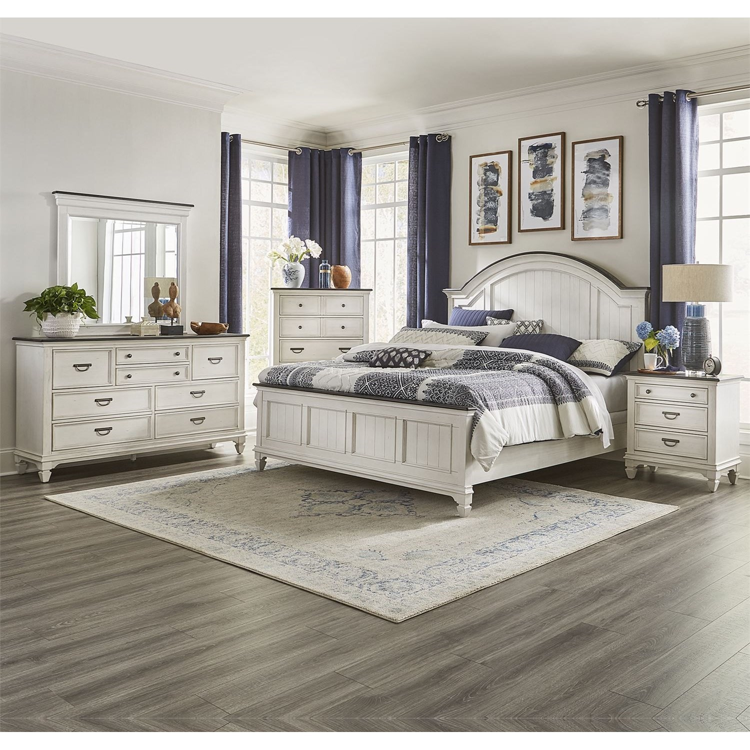 Allyson Park King Bedroom Group by Liberty Furniture at Van Hill Furniture