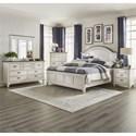 Liberty Furniture Allyson Park King Bedroom Group - Item Number: 417-BR-KAPBDMCN