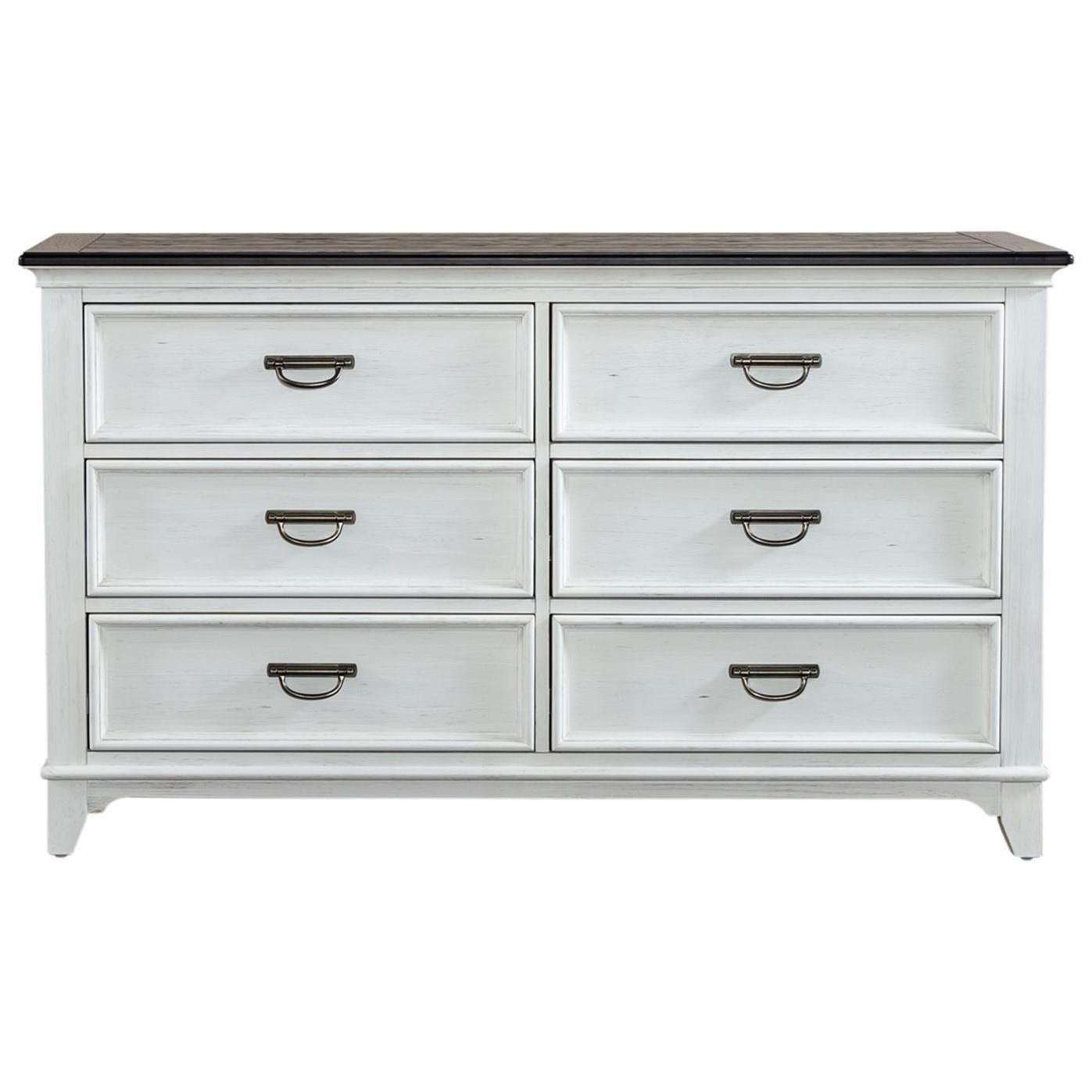 Allyson Park 6-Drawer Dresser by Liberty Furniture at Catalog Outlet