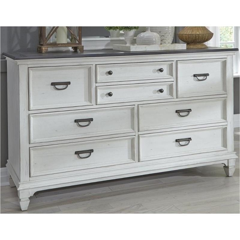 Liberty Furniture Allyson Park 8 Drawer Dresser - Item Number: 417-BR31