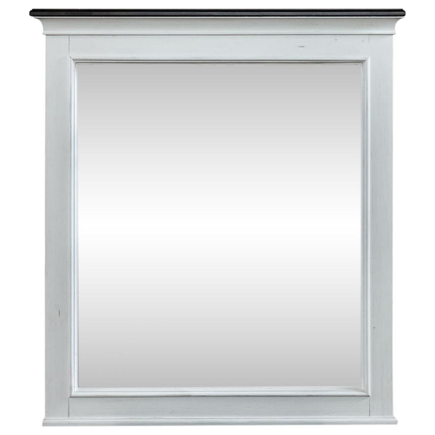 Allyson Park Crown Mirror by Liberty Furniture at Furniture and ApplianceMart