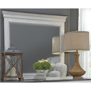 Liberty Furniture Allyson Park Crown Mirror