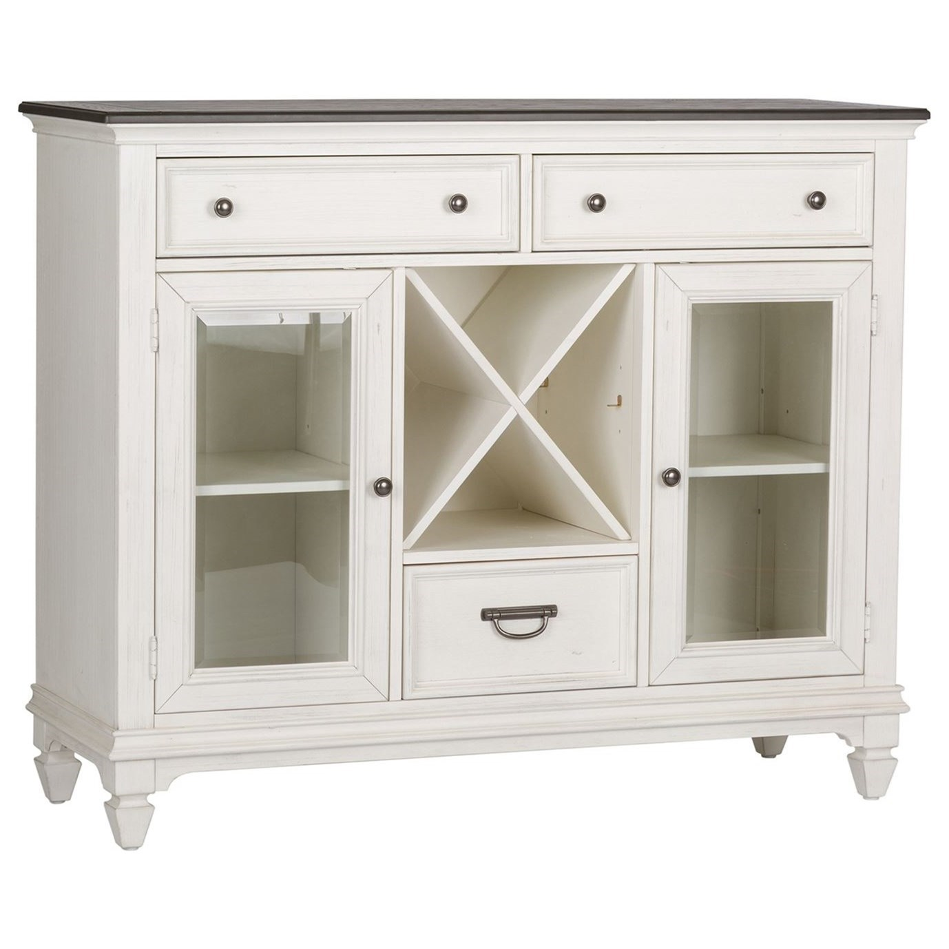 Allyson Park 3 Drawer 2 Door Buffet by Liberty Furniture at Lapeer Furniture & Mattress Center