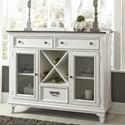 Liberty Furniture Allyson Park 3 Drawer 2 Door Buffet - Item Number: 417-CB5444