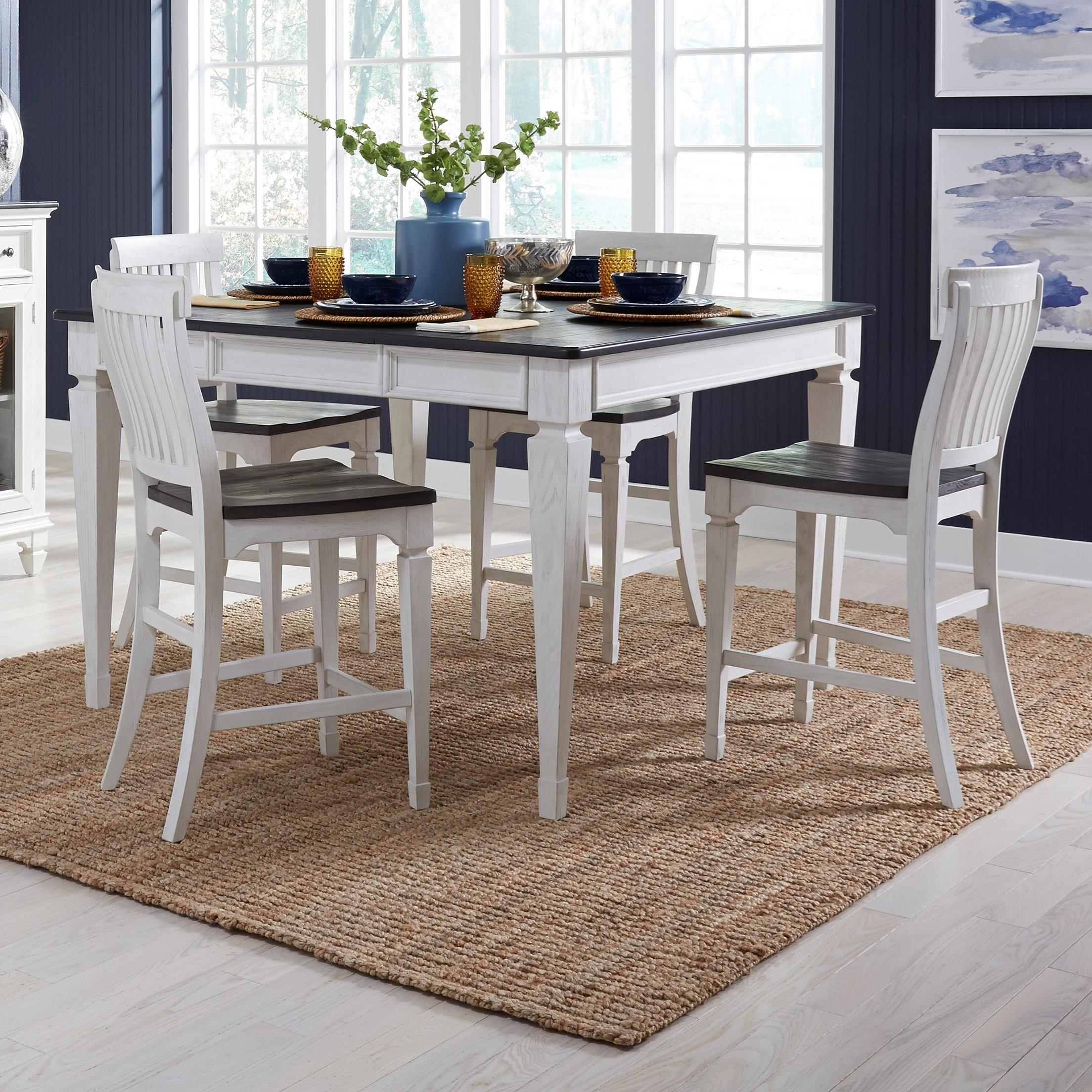 Allyson Park 5-Piece Gathering Table Set by Liberty Furniture at Home Collections Furniture