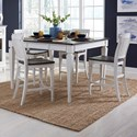 Liberty Furniture Allyson Park 5-Piece Gathering Table Set - Item Number: 417-DR-5GTS