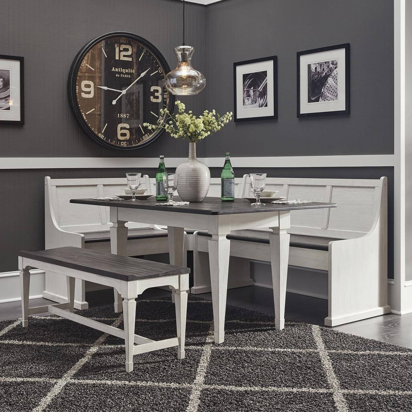 Allyson Park 5-Piece Leg Table Set by Liberty Furniture at Steger's Furniture