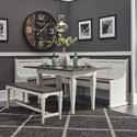 Liberty Furniture Allyson Park 5-Piece Leg Table Set - Item Number: 417-DR-5LTS