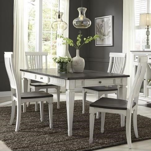 Allyson Park 5 Piece Rectangular Table Set  by Liberty Furniture at Home Collections Furniture