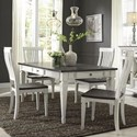 Liberty Furniture Allyson Park 5 Piece Rectangular Table Set  - Item Number: 417-DR-5RLS