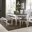 Liberty Furniture Allyson Park 6 Piece Rectangular Table Set  - Item Number: 417-DR-6RTS